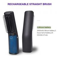 USB Rechargeable Tourmaline Ceramic Coating Wireless Travel Mini Hair Brush Straightener Manufactures