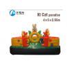 Colorful Kids Blow Up Castle Kitty Cat Paradise Bouncer For Amusement Park Manufactures