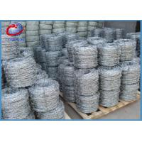 China 200M 12x14gauge Electro Galvanized Barbed Wire For Fencing Multi Materials on sale
