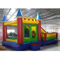 Outdoor Amusement Park 6 x 5 m PVC Tarpaulin Inflatable Bouncy Castle With Slide Manufactures