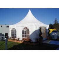 White 5x5m High Peak Pagoda Canopy Tent Customized Commercial Outdoor Marquee Tent For Trade Show Manufactures
