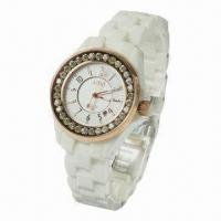 Fashionable Wristwatch with Ceramic Material Manufactures