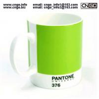China Export PANTONE colors fashion cup 376.numbers love for the ceramic mug on sale