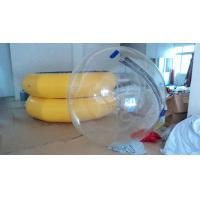 Color Strip Inflatable Walking Ball In Summer , Shopping Mall Water Floating Toys Manufactures