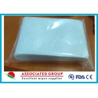 Non Woven Wet Wash Glove Spunlaced Cross Lappe Square Shape For Scrubbing Body Manufactures