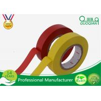 Yellow Coloured PVC Insulation Electrical Tape For Cable Wrapping 0.1mm 0.15mm 0.18mm Thickness Manufactures