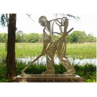 Stainless Steel Outdoor Metal Sculpture , Metal Figure Sculpture For Public Decoration Manufactures