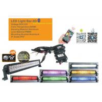 50 Inch RGB Car Light Bar With Bluetooth App 5D Projector Lens Combo Beam Manufactures