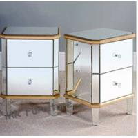 Excellent Mirrored Night Stands Birch Wood Leg MDF Body Customized Size Manufactures