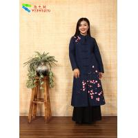 Soft Embroidered Winter Coats , Chinese Garment Jacquard Cotton Trench Coat Manufactures