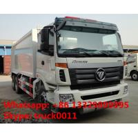 Quality Foton Auman 6*4 LHD 18m3 garbage compactor truck for sale, factory sale 18cbm compacted garbage truck for sale
