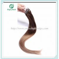 """Micro ring loop hair extensions 16""""-26""""L brazilian remy hair T4/10# color hair Manufactures"""