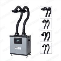 Digital Display Grey Soldering And Mobile Welding Fume Extractor With Three Layers Filter Manufactures
