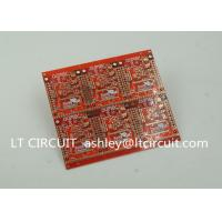 3'' U Gold Plating Multilayer PCB FR4 Printed Circuit Board Red Solder Mask Manufactures