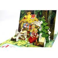 Case Bound Colorful Story Pop Up Children Book Printing With Diecut Book Manufactures