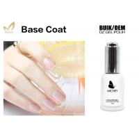 Non - Toxic Gel Top Coat And Base Coat , Clear Nail Art Base Coat No Layering Manufactures