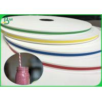 Buy cheap FDA Certificate 13.7mm 14mm 15mm 60gsm 120gsm Printed Straw Paper For Straws from wholesalers