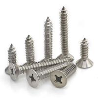 China Flat Head Bright Finish Stainless Steel Self Tapping Bolts 3.5 X 10mm - 6.3 X 100mm on sale