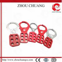 China Loto Equipments, Safety Steel Vinyl Coated Lockout Hasp Without Hook on sale