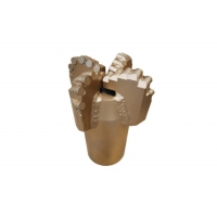 Female Thread Four Wings 152mm Diamond Non Core PDC Drag Bit For Water Well Drilling Manufactures