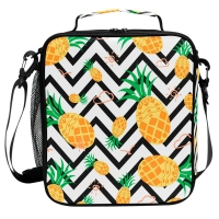 Buy cheap Lightweight Pineapple Kids Insulated Lunch Box With Zipper Closure from wholesalers