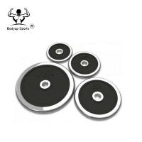 Chromed Cast Iron Weight Lifting Plates , Standard Weight Plates With Rubber Sheet Manufactures