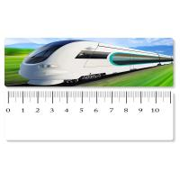 5.4x31cm High - Speed Train 3D Lenticular Ruler PET Material For Student Stationery Manufactures