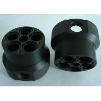 China Custom black ABS machined plastic parts by material cutting, CNC turning and CNC milling on sale