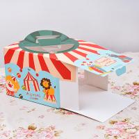 Quality Eco Friendly Beautiful Colored 4 Inch Cake Boxes Fancy Cartoon Design for sale