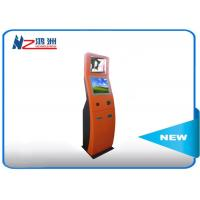 RFID card reader Self Service Check In Kiosk with red powder coated Manufactures