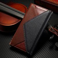 Flip PU IPhone Leather Wallet Case Magnetic Custom Litchi Crazy Horse Manufactures