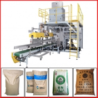 Buy cheap Oil Seeds Automatic Open Mouth Bag Filler seam sewing heat sealing from wholesalers