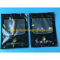 SGS Black Moisturizing Bag Can Hold 4-6 / Cigar Bags With Transparent Window for sale