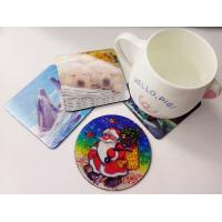 Buy cheap Customized PET lenticular 3D cup coaster from wholesalers