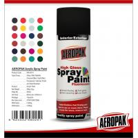 Metal / Wood / Glass Acrylic Spray Paint Flexible With Strong Adhesive Manufactures
