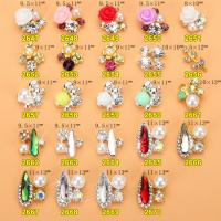 Hot NEW Wholesale Alloy Jewelry 3D Nail Art Jewelry Nail rhinestones Sticker Supplier Number ML2647-2670 Manufactures