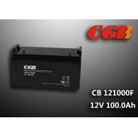 CB121000F 12V 100Ah Valve Regulated Lead Acid Battery , Wind Supply Energy Storage AGM Battery Manufactures