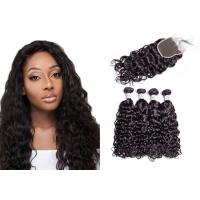 No Tangling 8A Water Wave Hair Bundles For Black Woman Strong Adhesive Glue Manufactures