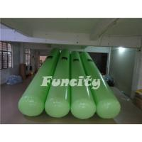7M Length 0.5m diameter Green Color  Airtight  Floating Water Buoys for Aqua park  Enclosure Manufactures