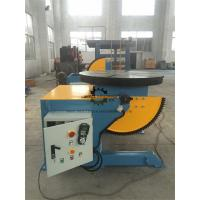 Elbow Rotary Welding Positioner Table Foot Pedal 1000KG Tilting  Capacity Manufactures