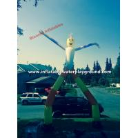 Mini Advertising Inflatable Sky Puppet Air Dancer Double Legs , High Tear Resistant Manufactures