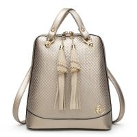 Solid Pretty Style Women Genuine Leather Female Backpack , Diamond Lattice Ladies Leather Rucksack Manufactures