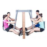 outdoor fitness equipment park wood outdoor leg press machine Manufactures