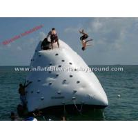Diving Fun Inflatable Iceberg In Water , Ocean Adults Floating Iceberg Climbing Wall Manufactures