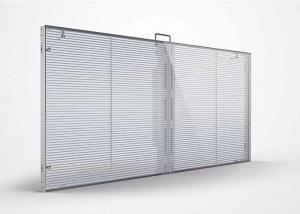 Supermarket Indoor Outdoor Transparent P3.91 LED Mesh Screen Manufactures