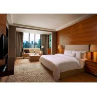 5 Star Hotel Bedroom Furniture King Size Wooden Material OEM Service Manufactures