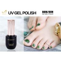 Professional Green Glitter Gel Nail Polish For Nail Art Environmently No Fade Manufactures