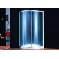 Bathroom Curved Corner Shower Enclosure 700 x 700 Chrome Frame PVC Water seal Manufactures