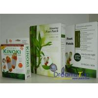 Kinoki Bamboo Vinegar Detoxification Foot Pads Adhesive Patch Slimming OEM Herbal Manufactures
