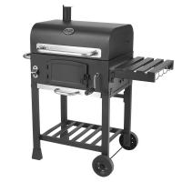 Classic Commercial Kitchen Equipments Barbeque Backyard Charcoal BBQ Grill Smoker With Trolley Manufactures